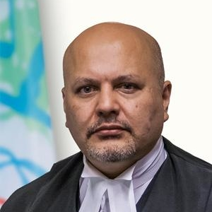 Karim A.A. Khan QC (President of the ICC Bar Association and ICC Defense Attorney)